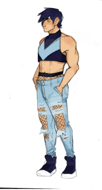 echoingblue:  Did someone say Dick Grayson in fishnets and ripped jeans: echoingblue:  Did someone say Dick Grayson in fishnets and ripped jeans