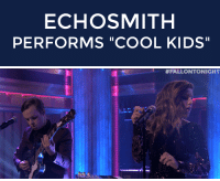 "Echosmith, Party, and Target: ECHOSMITH  PERFORMS ""COOL KIDS""   <p>Party time! Start the post-Thanksgiving party with <a href=""http://www.nbc.com/the-tonight-show/segments/64086"" target=""_blank"">Echosmith performing their hit song ""Cool Kids""</a>!</p>"