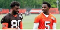 """God, Memes, and Browns: ECOM  LEC  ELAND Jarvis Landry (@God_Son80) had one word to describe his @Browns QB:  """"Amazing."""" https://t.co/7REMywSdsG https://t.co/KxCQC4x2Rd"""