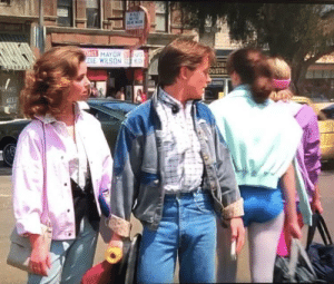 Marty Mcfly did this in 1985: ect MAYOR  DIE WILSON  S  OUSTR  KEEP Marty Mcfly did this in 1985