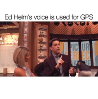 Ed Helms, Memes, and Omg: Ed Helm's voice is used for GPS  nERI EC OMG