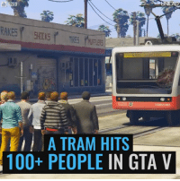 Like UNILAD Gaming for more gaming content! 🎮: ED  LSRIC2 1081  A TRAM HITS  100+ PEOPLE  IN GTA V Like UNILAD Gaming for more gaming content! 🎮