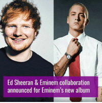 Oh my ..... 😍😍😍👌: Ed Sheeran & Eminem collaboration  announced for Eminem's new album Oh my ..... 😍😍😍👌