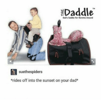 a kink: EDaddle  Dad's Saddle for Horsina Around  suethespiders  *rides off into the sunset on your dad* a kink