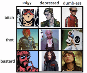 Ass, Bitch, and Dumb: edgy depressed dumb-ass  bitch  thot  bastard dangerdayz:no i dont take constructive criticism