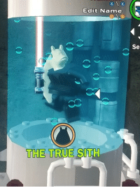 Sith, True, and Tank: Edit Name  Se  THE TRUE SITH Darth Binks, recovering in a Bacta Tank following his overthrow of Darth Plagueis (1969)