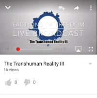 """Bodies , Computers, and Memes: EDOM  FACT  LIVE  CAST  The Transhuman Reality III  0:04  1 12:56  LJ  The Transhuman Reality lll  16 views [Link In Bio: https:-youtu.be-AMkoljgfbEg] In this advanced episode, we don't hesitate jumping into the rabbit hole. We go over things like Consciousness Transference, and how David Rockefeller may have used that to scapegoat death, as well as looking at Ray Kurzweil's statement on """"Non-Biological Bodies"""". Every day is a step closer to this technological & biological coalescence. Elon Musk has even also come out with his new company, Neuralink Corp., where he plans to create technologies, his Neural Lace, to allow us to directly interface with computers. While all these things sound wild and in the realms of science-fiction, I assure you they're right around the corner. They are subtly creating the concept of The Beta Borg, and unless we take hold of our own awakening, they may succeed. FactionsOfFreedom Podcast YouTuber AlternativeNews ConsciousMedia WakeUp TruthSeeker Transhumanism ConsciousnessTransference Neuralink NeuralLace Singularity MandatoryVaccines Borg CollectiveConsciousness Technocracy NewWorldOrder StayWoke Killuminati ExposeLies ShareTruth"""