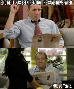 Children, Family, and Modern Family: EDONEL내AS BEEN READING THE SAME NEWSPAPER.  FOR 20 YEARS Married with Children to Modern Family, Ed O'Neill has been reading ...