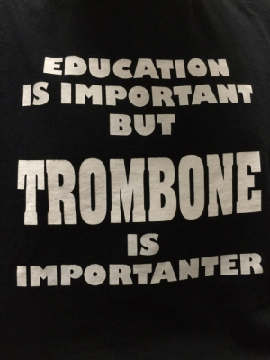Importanter: EDUCATION  IS IMPORTANT  BUT  TROMBONE  IS  IMPORTANTER