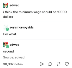 Germany, Minimum Wage, and Source: edwad  i think the minimum wage should be 10000  dollars  soyamorsoyVida  Per what  edwad  second  Source: edwad  38,397 notes Germany's economy experiences hyperinflation and collapse (1921)