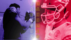 Mahomes. Jackson.  Two of the most exciting young QBs in the league meet. 🍿  📺: #BALvsKC -- TOMORROW at 1pm ET on CBS 📱: NFL app // Yahoo Sports app https://t.co/03Uu2IxWZF: EE S  AGXC N Mahomes. Jackson.  Two of the most exciting young QBs in the league meet. 🍿  📺: #BALvsKC -- TOMORROW at 1pm ET on CBS 📱: NFL app // Yahoo Sports app https://t.co/03Uu2IxWZF