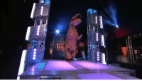 Funny, American, and Ninja: eeee レー  eeeeろーーeeee T-Rex Doing American Ninja Warrior