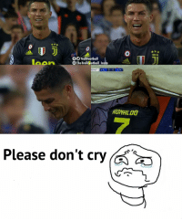 Cristiano Ronaldo, Memes, and Troll: eehtiolifiU  fTrollFootball  The Troll ootball Insta  0:47  VAL 0 0 JUV  el  Please don't cry Cristiano Ronaldo fans right now https://t.co/d2YcKgPSBs