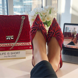 Step into Spring with our ANNABELL pumps in check print and HELIA bag in raspberry velvet. http://bit.ly/ANNABELL_CHECK: EELS  LIFE IS SHORT  buy the shoes Step into Spring with our ANNABELL pumps in check print and HELIA bag in raspberry velvet. http://bit.ly/ANNABELL_CHECK