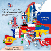"Click, Good for You, and Google: een  Top Google autocomplete result for  ""Why is [country name]...?""  (The U.S. version of Google, as of  03  not in  AT  0  October 2016)  SO  greatso atheist bombin  Syria  the happiest  countrv-in  o sm  sa green  white  Russia  eaving  oran  o catholic  a county SO rich  ch  so poor  atheis  no  ot inFIEA  POo  so racist  ""ROU  ric  HR  ot at wat  in  so poor  the UN called  SO Door  named  Turkey  musli  otoke  more maps at  jakubmarian.com  good for you <p><a href=""http://land-of-maps.tumblr.com/post/151844467745/google-autocomplete-why-is-european-country"" class=""tumblr_blog"">land-of-maps</a>:</p>  <blockquote><p>Google Autocomplete : Why is [European country] … [1260 x 1260]<br/><a href=""http://landofmaps.com/"">CLICK HERE FOR MORE MAPS!</a></p></blockquote>"