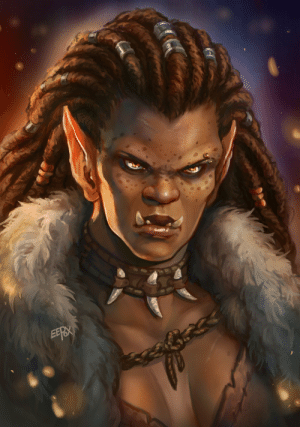 eepoxdraws:  Updated  the first ever portrait I had done of Manata to better reflect how I  imagine her now, and to have it match better the upcoming Mag'har model.Before - after: eepoxdraws:  Updated  the first ever portrait I had done of Manata to better reflect how I  imagine her now, and to have it match better the upcoming Mag'har model.Before - after