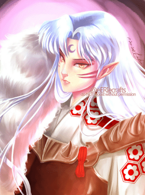eeriecrafts:    殺生丸  様|| For @anewe9 I'm in Sesshomaru sama's hell send help D:!!! This is the first time I try to draw him ever, so it looks kinda weird. Also it's been a while since I last tried painting anything…. but I had to get this out of my system xD Won't help, though. If you've seen my feed you'll notice this obsession is just starting LMAOI blame @anewe9 for supporting my fangirlism; now I'm too far gone. This is your fault, I hope you're happy xDDDD I'll make better renditions with practice, for now bear with me. : @eERlecrafts  do NOTrepost without permission  7-Sep-2018 eeriecrafts:    殺生丸  様|| For @anewe9 I'm in Sesshomaru sama's hell send help D:!!! This is the first time I try to draw him ever, so it looks kinda weird. Also it's been a while since I last tried painting anything…. but I had to get this out of my system xD Won't help, though. If you've seen my feed you'll notice this obsession is just starting LMAOI blame @anewe9 for supporting my fangirlism; now I'm too far gone. This is your fault, I hope you're happy xDDDD I'll make better renditions with practice, for now bear with me.