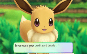 komekoro: Anything for Eevee!  : Eevee wants your credit card details komekoro: Anything for Eevee!