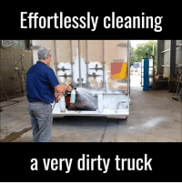 This is so oddly satisfying 😍: Effortlessly cleaning  a very dirty truck This is so oddly satisfying 😍