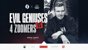 #EGDOTA2 has a double dose of Evil for you today in the @BeyondTheSummit Pro Series Season 2 Group Stages! First up we're planning to turn @4Zoomers into 4 Boomers. Draft starts now! #EGWIN  📺  https://t.co/CcUjQYUyNT https://t.co/7qdXb7yiIi: #EGDOTA2 has a double dose of Evil for you today in the @BeyondTheSummit Pro Series Season 2 Group Stages! First up we're planning to turn @4Zoomers into 4 Boomers. Draft starts now! #EGWIN  📺  https://t.co/CcUjQYUyNT https://t.co/7qdXb7yiIi