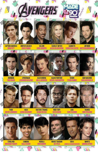 America, Arnold Schwarzenegger, and Brad Pitt: EGERS  IN  THE  ANTMAN  CAPTAIN AMERICA  BRAD PITT  WINTER SOLDIER  JOHN STAMOS  FALCON  EDDIE MURPHY ALICIA SILVERSTONE CHIRISTIAN SLATER MATTHEW BRODERICK  SCARLET WITCH  HAWKEYE  IRONMAN  TOM CRUISE  SPIDERMAN  LEONARDO DICAPRIO  BLCK WIDOW  MILLAJOVO,ICH  BLACK PANTHER  DENZEL WASH NGTON  WAR MACHINE  ETHAN HAWKE  CUB,000  CR  8OCHIBOCHLPE f/BOCHIH.PE  HULK  LOKI  GARY OLDMAN  THOR  DOCTOR STRANGENICK FURY  KEITH DAVID  THANOS  RON PERLMAN  DOLPH LUNDGREN DAVID OUCHOVNY  KEANU REEVES  STARLORD  BRENDAN FRASER  GAMORA  HALLE BERRY  NEBULA  DEMI MOORE  ROCKET RACOON  OE PESCI  DRAX  ARNOLD SCHWARZENEGGER  MANTIS  WINONA RYDER What if the Marvel Cinematic Universe was made in the 90s