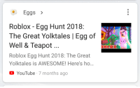 Roblox Egg Hunt 2018 The Great Yolktales Starting Out And Eggs Roblox Egg Hunt 2018 The Great Yolktales Egg Of Well Teapot Roblox Egg Hunt 2018 The Great Yolktales Is Awesome Here S Ho Blax Youtube 7 Months Ago Facepalm Meme On Me Me