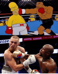 9gag, Mayweather, and Memes: EGOR The Simpsons did it again! Follow @9gag 9gag mayweather mcgregor ufc thesimpsons
