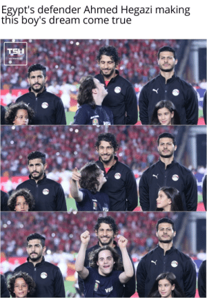 Sports, True, and Wholesome: Egypt's defender Ahmed Hegazi making  this boy's dream come true  TSH  VIS  CAR  VISA  ARM  VIS! Wholesome sports moment
