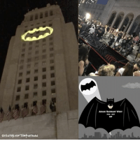 """Evening Gothamites and greetings from Los Angeles City Hall! I just came from the Adam West tribute ceremony where Los Angeles Mayor Eric Garcetti and Police Department Chief Charlie Beck celebrate the life of Adam West who passed away June 9th (bottom right art by @NoRoomInTheFridge). Before lighting the Bat-signal in honor of our celebrated crime fighter, speeches were given by Burt Ward, Robin to Adam West's Batman in the '60s tv series, Ralph Garman and joined on the steps of the hall were Adam West's family, Co-publisher of DC Comics Jim Lee and """"Batman"""" movie's Catwoman herself Lee Meriwether! West's classic Batmobile made an appearance at the foot of City Hall along with what felt like thousands of Batman fans remembering the amazing Adam West. It was definitely a wonderful tribute to a Batman we will all miss. Thanks for following and we'll have more History of the Batman soon! RIPBatman ✌🏼💙🦇🙏🏼: eHisTop YoF THE ATMAN  ADAM BATMAN WEST Evening Gothamites and greetings from Los Angeles City Hall! I just came from the Adam West tribute ceremony where Los Angeles Mayor Eric Garcetti and Police Department Chief Charlie Beck celebrate the life of Adam West who passed away June 9th (bottom right art by @NoRoomInTheFridge). Before lighting the Bat-signal in honor of our celebrated crime fighter, speeches were given by Burt Ward, Robin to Adam West's Batman in the '60s tv series, Ralph Garman and joined on the steps of the hall were Adam West's family, Co-publisher of DC Comics Jim Lee and """"Batman"""" movie's Catwoman herself Lee Meriwether! West's classic Batmobile made an appearance at the foot of City Hall along with what felt like thousands of Batman fans remembering the amazing Adam West. It was definitely a wonderful tribute to a Batman we will all miss. Thanks for following and we'll have more History of the Batman soon! RIPBatman ✌🏼💙🦇🙏🏼"""