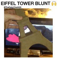 Gotta make it proper when you're smokin that Paris OG 😂🙌 - @TheDailyChief420 - 🎥: @chris68ironcheff: EIFFEL TOWER BLUNT  @TheDailyChief420 Gotta make it proper when you're smokin that Paris OG 😂🙌 - @TheDailyChief420 - 🎥: @chris68ironcheff