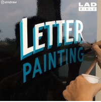 Dank, Bible, and Watch: eindraw  LAD  BIBLE  PAINTING I could watch letter painting all day 😍