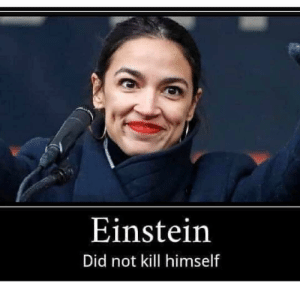 Reddit, Einstein, and Aoc: Einstein  Did not kill himself AOC makes it too easy