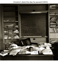 """Desk, Via, and Format: Einstein's desk the day he passed (1955)  sileq ayp  sl aad <p>Could I get a valuation of this format? via /r/MemeEconomy <a href=""""https://ift.tt/2HKmvHO"""">https://ift.tt/2HKmvHO</a></p>"""
