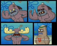 Flexing, SpongeBob, and But: eird flex but o