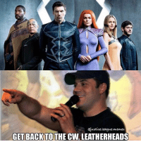 First thing I thought of when the photo was released. Holding out (most) judgement until we see them in motion. EW is known for making shit promo images. ~Green Arrow: ejustice.League memes  GET BACK TO  THE CW LEATHERHEADS First thing I thought of when the photo was released. Holding out (most) judgement until we see them in motion. EW is known for making shit promo images. ~Green Arrow