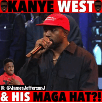Kanye, Memes, and Snl: eKANYE WEST  GAIN  IG: @JamesJeffersonJ  & HI  SMAGA HAT?! Kanye West is back with his MAGA hat...🐸☕️ . . KanyeWest Kanye snl saturdaynightlive maga makeamericagreatagain yandhi ye trump donaldtrump