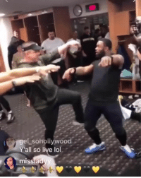 Lol, New Orleans Saints, and Live: el sohollywood  all so live lol  missia Saints locker room after the win 💀  (via 4ongo/IG, pjwilliams_25/IG, c__robertson53/IG, wil_lutz5/IG)