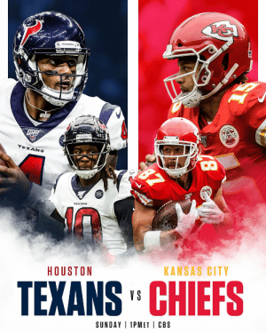 Memes, Nfl, and Sports: ele  TEXANS  KANSAS CITY  HOUSTON  TEXANS' CHIEFS  SUNDAY 1PMET CBS  8 .@deshaunwatson + @DeAndreHopkins  @PatrickMahomes + @tkelce    SO READY for this one. 🍿  📺: #HOUvsKC -- TOMORROW at 1pm ET on CBS 📱: NFL app // Yahoo Sports app https://t.co/WthgubOJWn