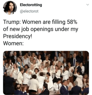 No not them 😭😫 . . . . . . . . . . trump democrats democrat peace theresistance usa memes whitehouse savagememes democrats republicans republican this whitehouse exactly stoptrump wow republicans cnn savage cool notcool stupid savage vote politics savage theresistance queen wall immigration savagery SOTU women feminist feminism: Electorotting  @electorot  Trump: Women are filling 58%  of new job openings under my  Presidency!  Women: No not them 😭😫 . . . . . . . . . . trump democrats democrat peace theresistance usa memes whitehouse savagememes democrats republicans republican this whitehouse exactly stoptrump wow republicans cnn savage cool notcool stupid savage vote politics savage theresistance queen wall immigration savagery SOTU women feminist feminism