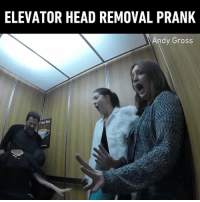 9gag, Halloween, and Head: ELEVATOR HEAD REMOVAL PRANK  dy Gross I would have freaked out too 😱 By @andygrosslive - 9gag halloween halloweenprank