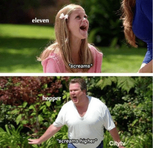 Tumblr, Blog, and Com: eleven  screams  hopper  screams higher chiiefhopper:summary of eleven and hoppers relationship