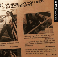 @dwyanewade predicted his future greatness in his high school yearbook. 🔥: ELF WHERE Do You SEE  IN  YEARS  I see myself hopefully as a successful lawyer or  politician, helping out minority communities.  Martez Knox  I see myself even hotter than I already am, with  e same old hooligan still causin'  music CD's that are platinum. will be a superstar  uth Side.  in every form.  Matt Bramlett  -Brian Moore  see myself retiring from the NBA to spend time  with my wife and kids. Also retirining as one of  the greatest to play the game.  -Dwayne Wade @dwyanewade predicted his future greatness in his high school yearbook. 🔥