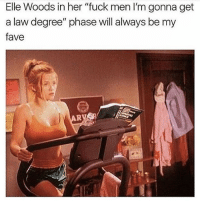 "Goals, Fave, and Fuck: Elle Woods in her ""fuck men I'm gonna get  a law degree"" phase will always be my  fave Sunday goals"