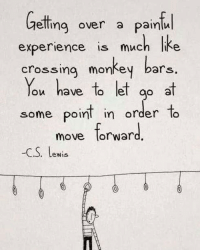 Life moves on... move along with it.: elling over a painlu  experience is much lke  crossing monkey bars  ou have lo lel ao e  some poin in order To  move orward.  ao a  some point in order to  move forward  -C.S. Lewis  . LeWis Life moves on... move along with it.