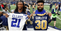 Memes, 🤖, and Via: ELLIOTT  GURLEY I  31 Most Trustworthy RBs in the #NFLPlayoffs:  1. @EzekielElliott 2. @TG3II 3-10. https://t.co/ClqRLM6KXj (via @MJD) https://t.co/sJMHOqQYOy