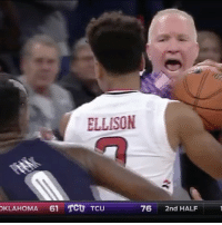 """Memes, 🤖, and Tcu: ELLISON  OKLAHOMA  61 TCU TCU  76  2nd HALF Repost @sportscenter: """"Things got heated between players and coaches in the Georgetown-St.Johns game."""" 👀 GeorgeTown StJohns WSHH"""