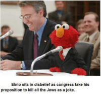 "Dank, Elmo, and Meme: Elmo sits in disbelief as congress take his  proposition to kill all the Jews as a joke <p>Elmo via /r/dank_meme <a href=""http://ift.tt/2FsVW4D"">http://ift.tt/2FsVW4D</a></p>"
