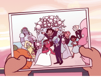 Click, Target, and Tumblr: ELODIE elodiedrawsthings:Screencap redraw of the comic book wedding shot, but with the rupphire wedding!! This was so fun to do 💕 (click for better res obv)