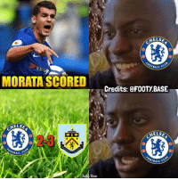 Bad, Chelsea, and Memes: ELS  OTBALL  MORATA SCORED  Credits: @FOOTY.BASE  ELS  ELS  OTBALL C  OTBALL  Base Bad Luck Chelsea 😂 Tag Chelsea Fans 👇 Double Tap & Follow me @footy.base for more! ❤️