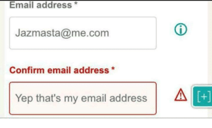 Memes, Email, and Working: Email address*  Jazmasta@me.com  Confirm email address*  Yep that's my email addressA  +] Whys it not working? via /r/memes https://ift.tt/2RYL04G